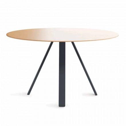Runt matbord i metall och MDF Tillverkat i Italien - Cornelius