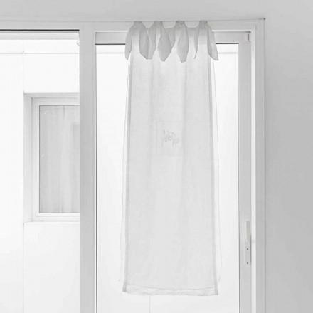 Gardin med linnegas och vit organza av elegant design - Tapioca