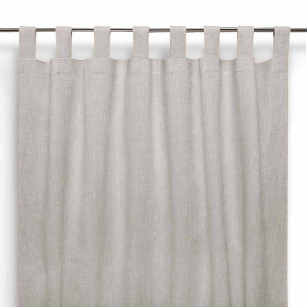 Gardin med knapphål i ren linne naturfärg tillverkad i Italien - högtidlig