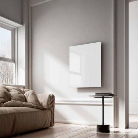 Elradiatorer infraröda strålar design i vitt glas Clear
