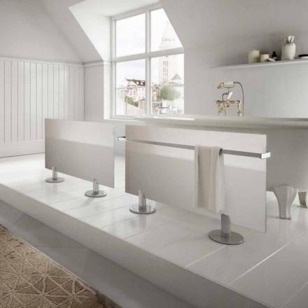 Elektriska element från modern design golv i Star vitt glas