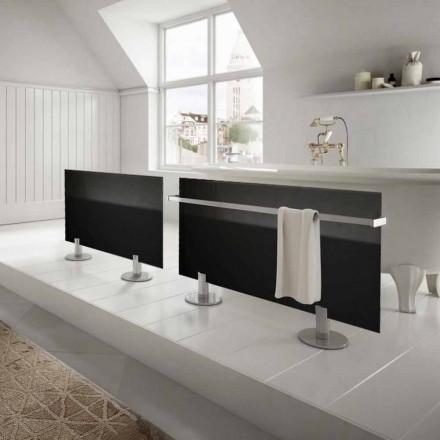 Elektriska element från modern design golv i svart glas Star