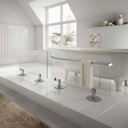 Termoarredo designer elektrisk golvet genomskinligt glas Star