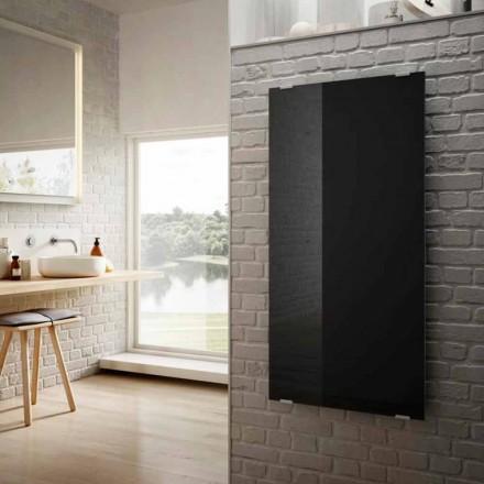 Elektriska radiatorer i modern design Star svart glas, tillverkade i Italien