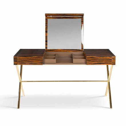 Moderna sminkbord med sufflett i blankt ebenholts Ada 3