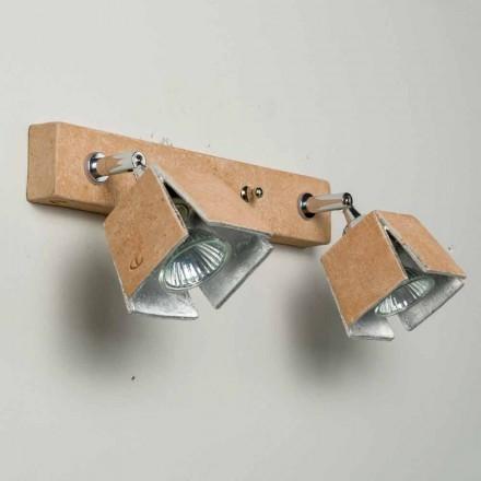 TOSCOT reglette Plate 2 riktade lampor gjorda i Toscana