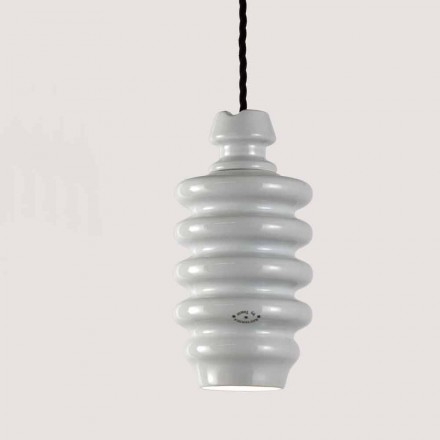 TOSCOT Battersea lampa vit keramisk suspension