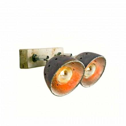 TOSCOT Noceto reglette två riktade lampor gjorda i Toscana
