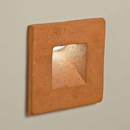 TOSCOT Square applique kvadratisk LED Utomhus lera