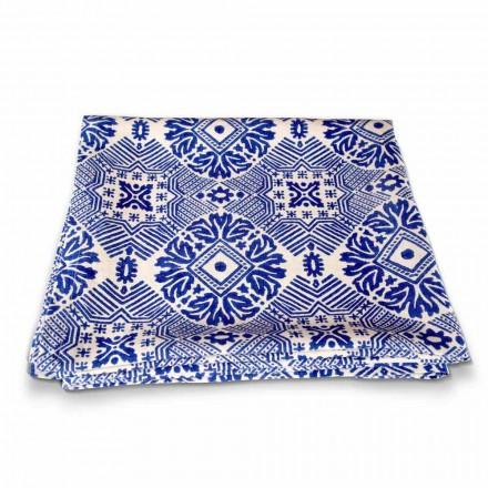 Konstnärlig bordduk Handtryckt unikt stycke italiensk hantverk
