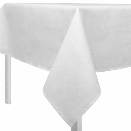 Rektangulär eller fyrkantig krämvit duk tillverkad i Italien - Blessy