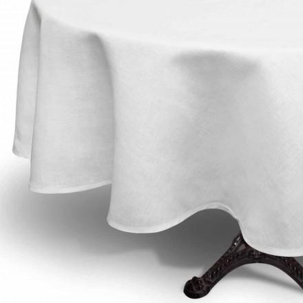 Rund kräm vit linnedduk Handgjord i Italien - Blessy