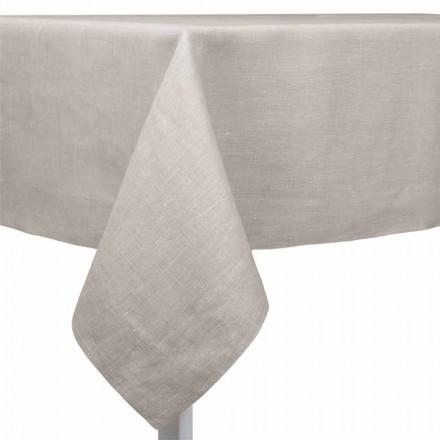 Naturlig, rektangulär eller fyrkantig linnedduk Tillverkad i Italien - vallmo