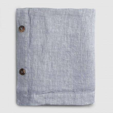 Rektangulär linneduk med knapphål och 12 lyxiga knappar - Mediterranea