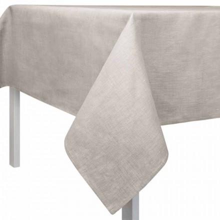 Rektangulär eller fyrkantig naturfärgbordsduk Tillverkad i Italien - Blessy