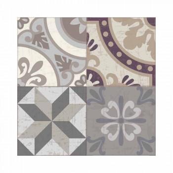 Amerikansk placemat i PVC och tvättbar modern polyester, 6 delar - Malia