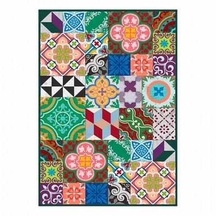 Modern tvättbar amerikansk placemat i PVC och polyester, 6 delar - Timio
