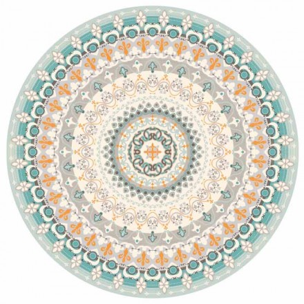 Round Design American Placemat i PVC och polyester, 6 delar - Rondeo