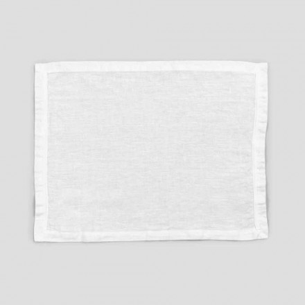 2 rena vita lakensplattformar med kant eller spets, design tillverkad i Italien - Davincino
