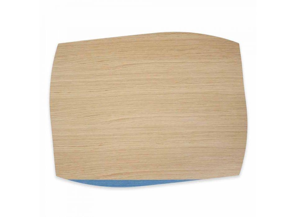 Modern rektangulär placemat i ekvirke tillverkad i Italien - Abraham