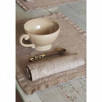 Amerikanska placemats och linne frukost servetter 2 stycken - Maccanone