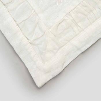 Amerikanska placemats i blått linne eller rygg med prägling, 2 stycken - Milone