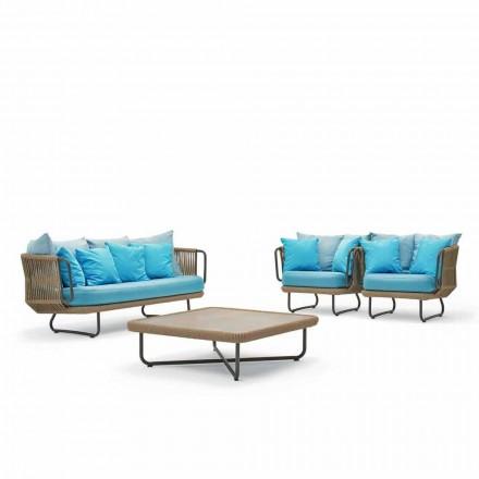 Varaschin Babylon trädgårdslounge, soffa, 2 fåtöljer och 1 soffbord