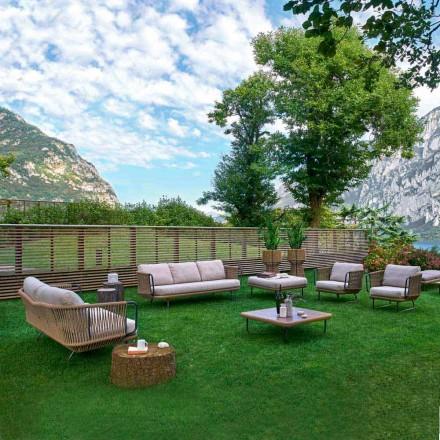 Varaschin Babylon modern trädgårdslounge i aluminium och rep