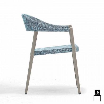 Varaschin Clever stol av modern design trädgård, 6 st