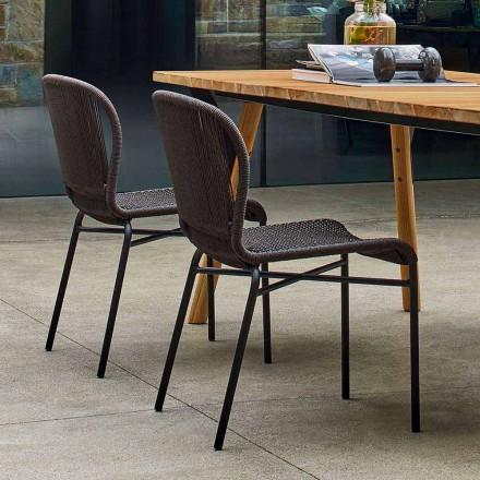 Varaschin Cricket utomhus stol modern vävda för hand, 2 st