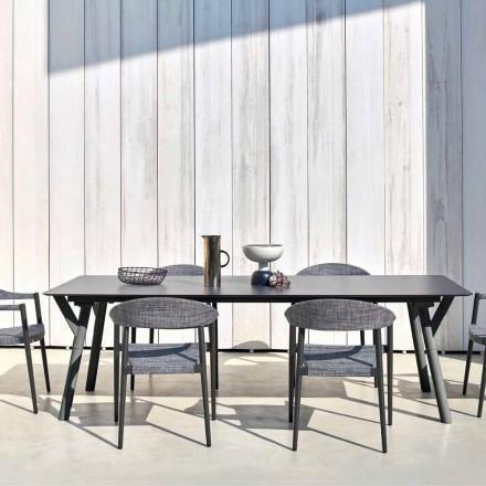Varaschin Link Fast matbord trädgården eller inomhus H 75 cm