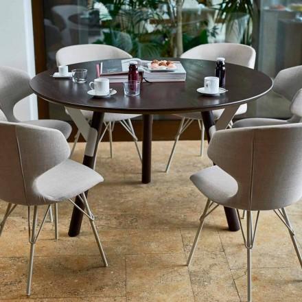 Varaschin Links runt bord för inomhus / utomhus modern design, H 65 cm