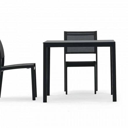 Varaschin Victor bord för att äta middag inomhus och trädgård, modern design