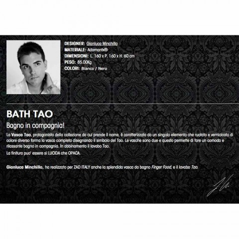 Badkar iAdamantx® Bath Tao Made in Italy
