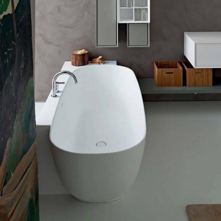 Vitt frittstående badkar i modern stil - Lipperiavas1