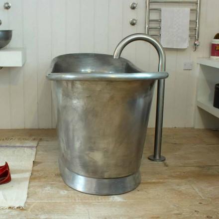Badkar Fristående koppar badrum vitmålad järn Julia