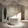 Fristående badkar med rund design tillverkade 100% i Italien, Cremona