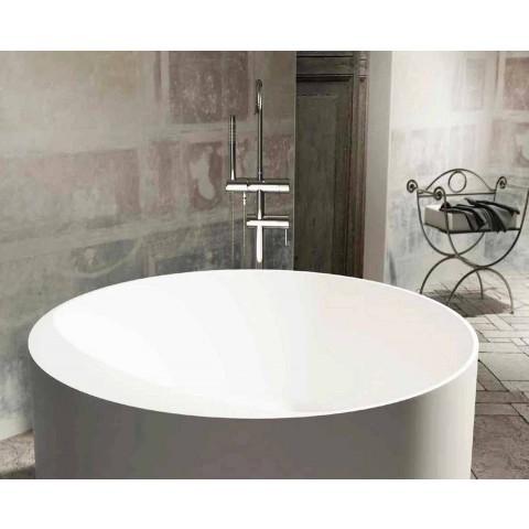 Rund frittstående design badkar tillverkat i Italien Cremona