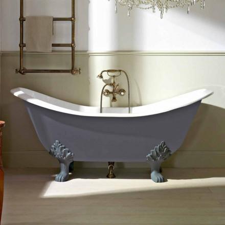 Vintage fristående badkar med fötter i gjutjärn - Nadine