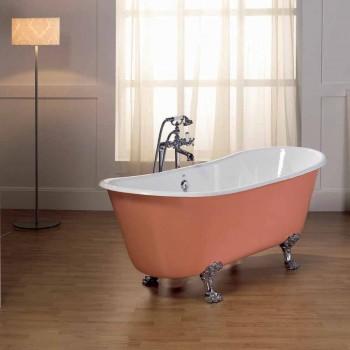 Bath i gjutjärn med Melissa fötter