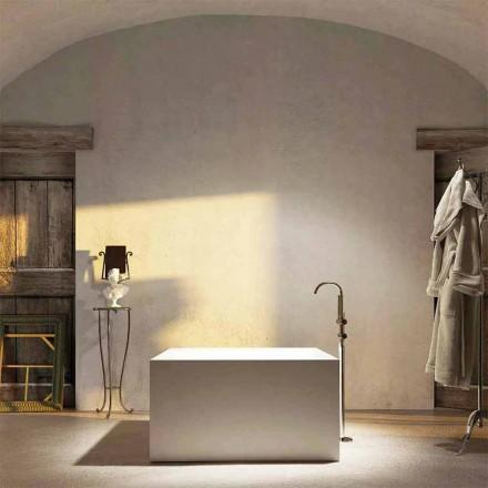 Fristående fyrkantiga badkar Argentera, producerade 100% i Italien