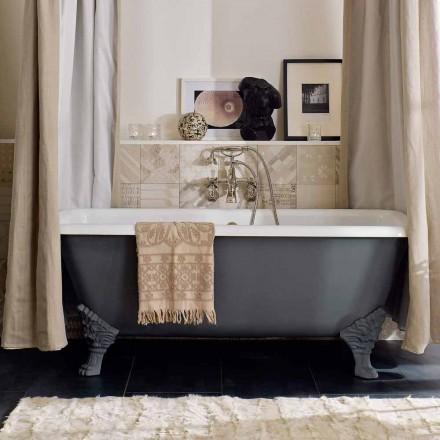 Vintage fristående badkar med fötter i gjutjärn - Nausica