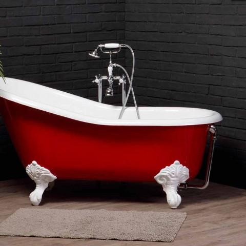 designen målat gjutjärn badkar med dekorerade fötter Carrie