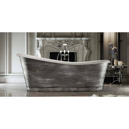 Fristående badkar i modern design tillverkad i Italien, Furtei