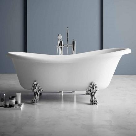 Frittstående badkar, viktoriansk design i fast yta - regn