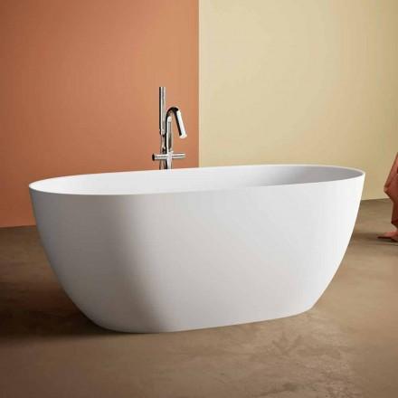Frittstående badkar, gjord i Italien, i fast yta - Flöde