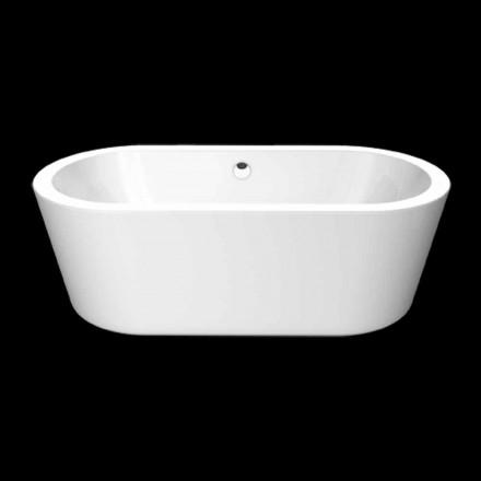 Bath vit akryl konstruktion fristående Nicole Small 1675x777 mm