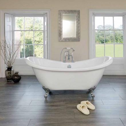 Fristående badkar vit modern design Acrylic Spring 1750x720mm