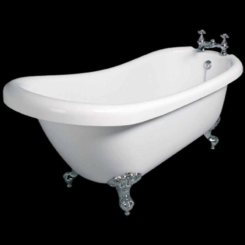 Bath fristående modern design i vit akryl Dawn 1700x750mm