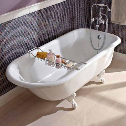 Vintage fristående designbadkar i vitt gjutjärn, tillverkat i Italien - Marwa